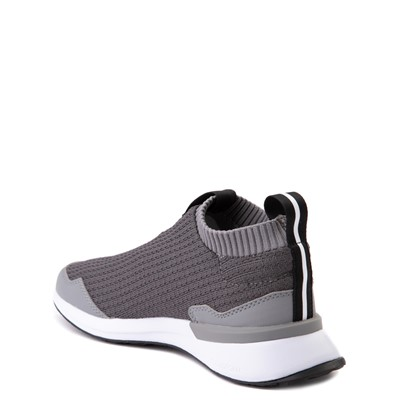 Alternate view of adidas RapidaRun Laceless Athletic Shoe - Big Kid - Gray