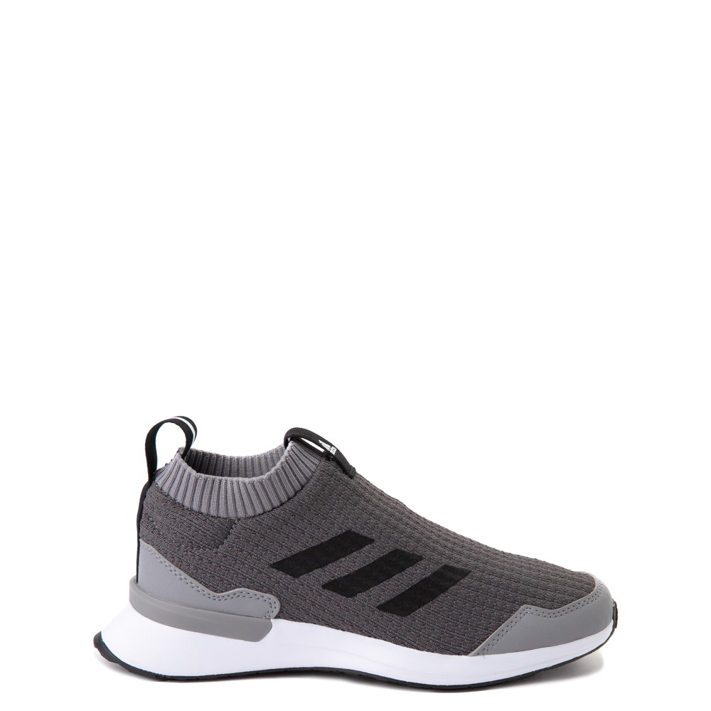adidas RapidaRun Laceless Athletic Shoe - Big Kid - Gray