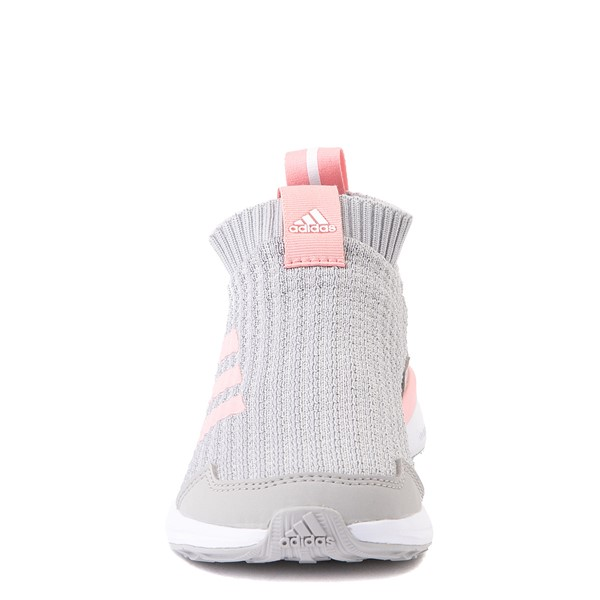 alternate view adidas RapidaRun Laceless Athletic Shoe - Little Kid - Gray / PinkALT4