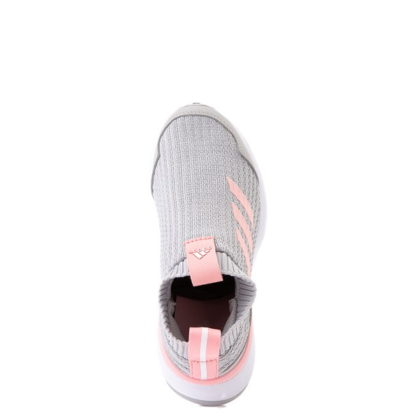 alternate view adidas RapidaRun Laceless Athletic Shoe - Little Kid - Gray / PinkALT4B