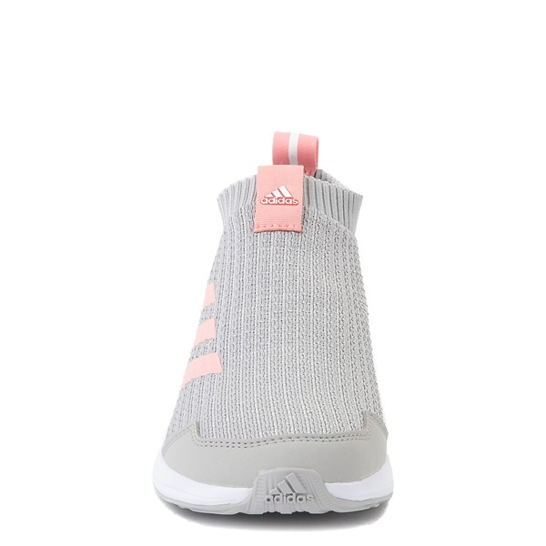 alternate view adidas RapidaRun Laceless Athletic Shoe - Big Kid - Gray / PinkALT4