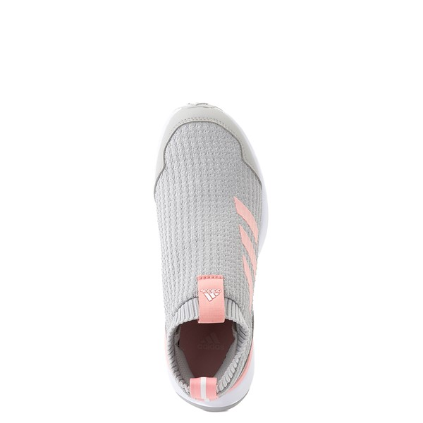 alternate view adidas RapidaRun Laceless Athletic Shoe - Big Kid - Gray / PinkALT4B