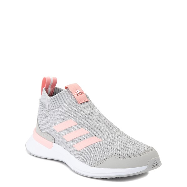 alternate view adidas RapidaRun Laceless Athletic Shoe - Big Kid - Gray / PinkALT5