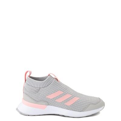 Main view of adidas RapidaRun Laceless Athletic Shoe - Big Kid - Gray / Pink