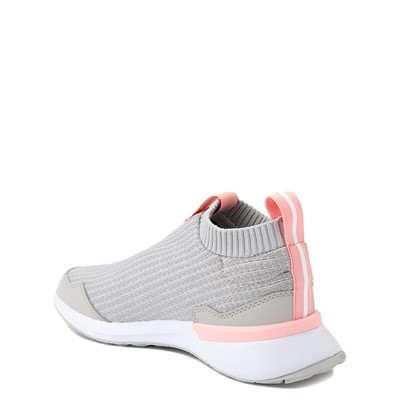 Alternate view of adidas RapidaRun Laceless Athletic Shoe - Big Kid - Gray / Pink