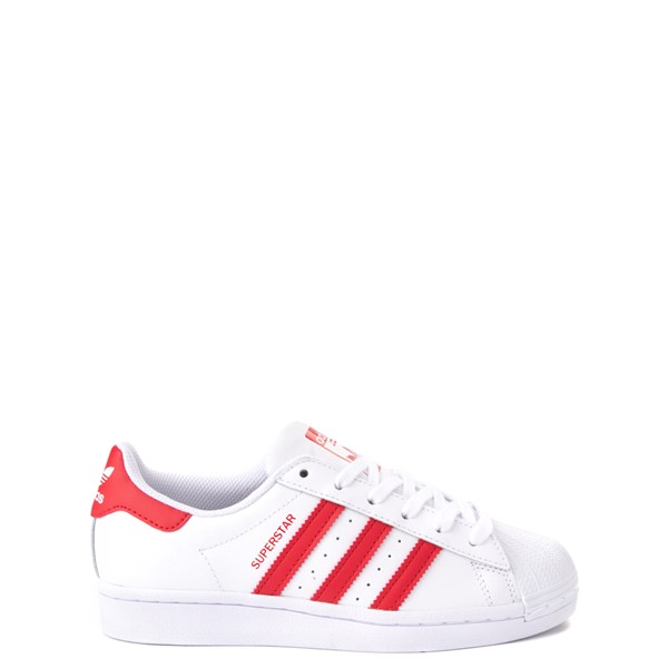 Main view of adidas Superstar Athletic Shoe - Big Kid - White / Red