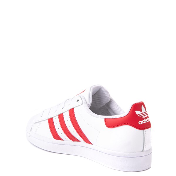 alternate view adidas Superstar Athletic Shoe - Big Kid - White / RedALT1
