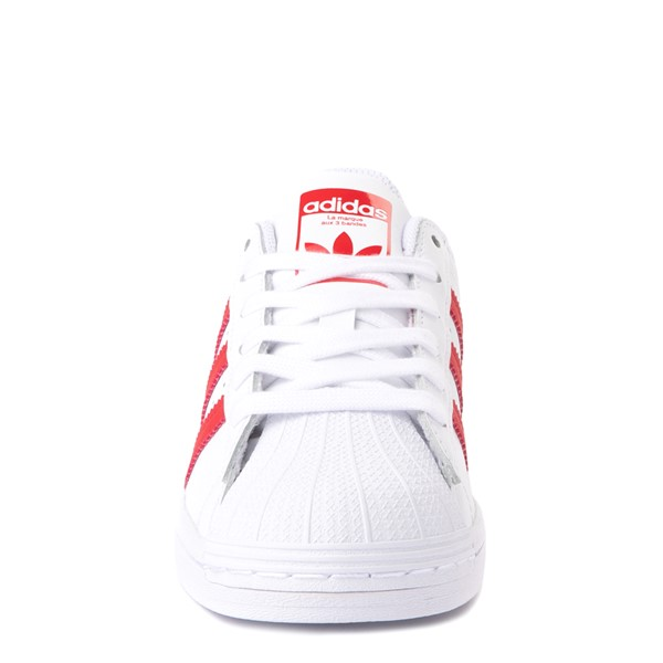 alternate view adidas Superstar Athletic Shoe - Big Kid - White / RedALT4