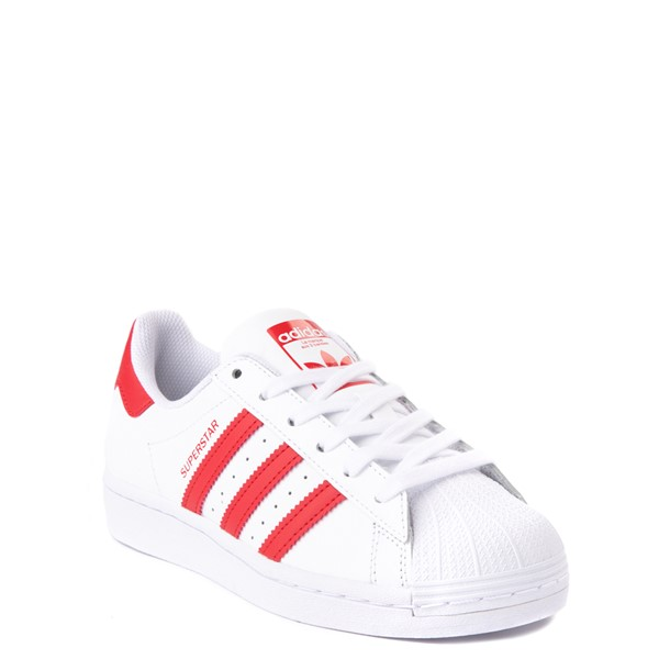 alternate view adidas Superstar Athletic Shoe - Big Kid - White / RedALT5