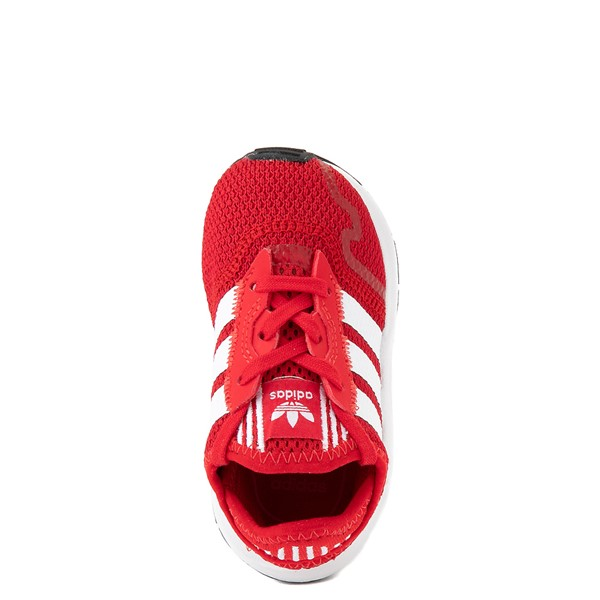 alternate view adidas Swift Run X Athletic Shoe - Baby / Toddler - RedALT2