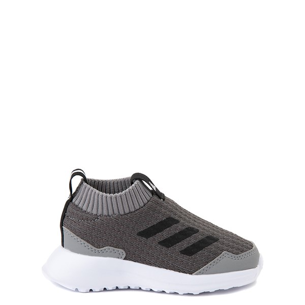 Main view of adidas RapidaRun Laceless Athletic Shoe - Baby / Toddler - Gray