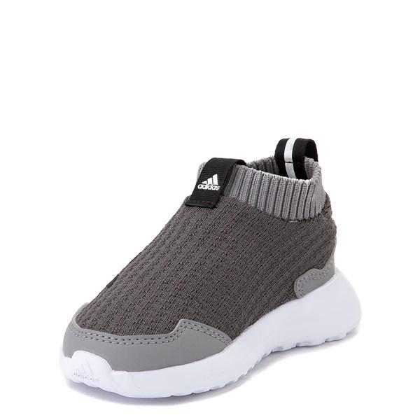 alternate view adidas RapidaRun Laceless Athletic Shoe - Baby / Toddler - GrayALT3