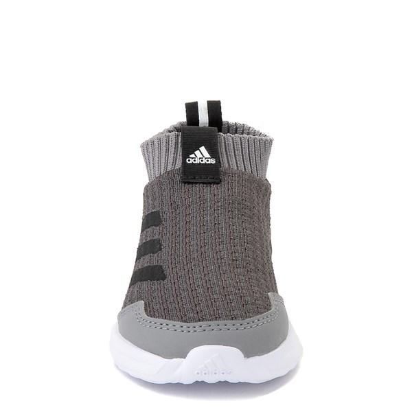alternate view adidas RapidaRun Laceless Athletic Shoe - Baby / Toddler - GrayALT4