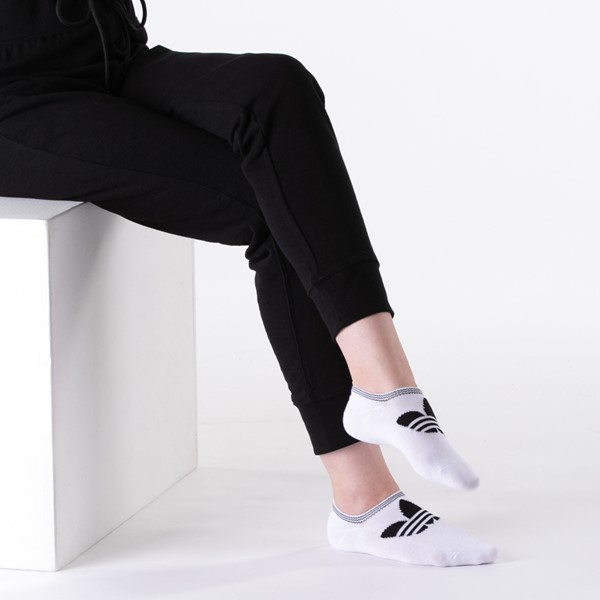 alternate view Womens adidas Trefoil Liners 6 Pack - Black / White / GrayALT1
