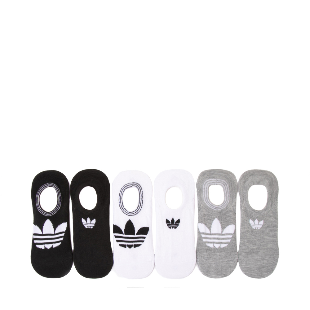 Womens adidas Trefoil Liners 6 Pack - Black / White / Gray