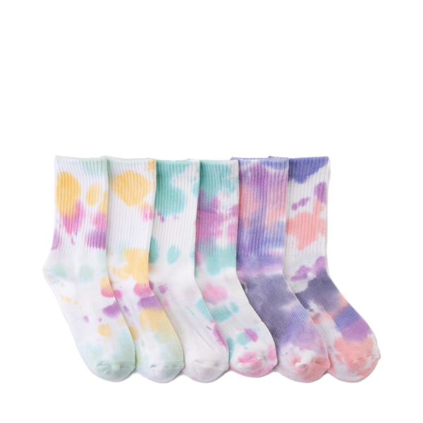 Tie Dye Crew Socks 3 Pack - Little Kid - Multicolor