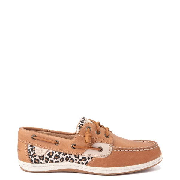 Main view of Womens Sperry Top-Sider Songfish Boat Shoe - Tan / Leopard