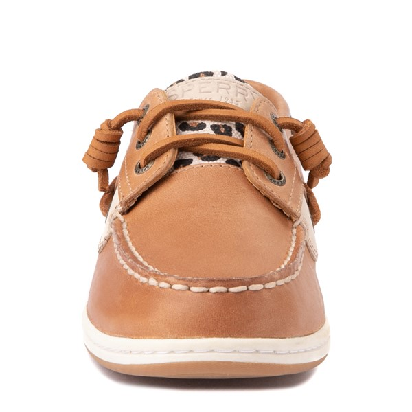 alternate view Womens Sperry Top-Sider Songfish Boat Shoe - Tan / LeopardALT4
