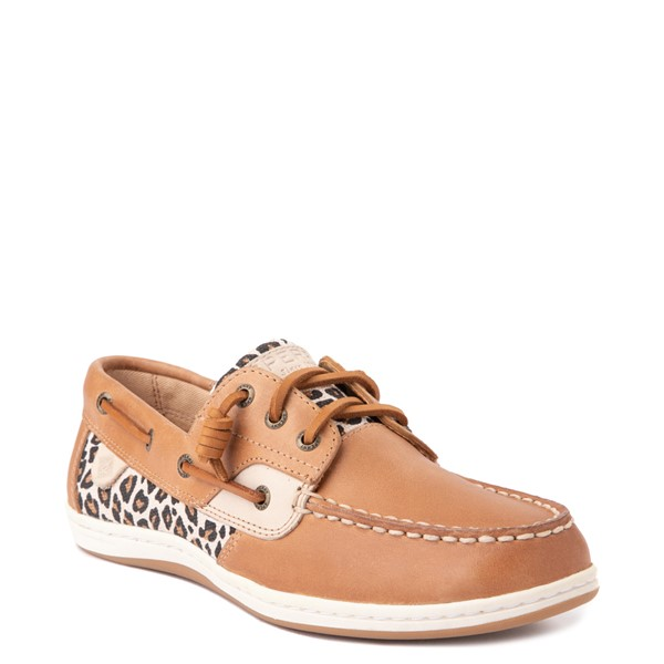 alternate view Womens Sperry Top-Sider Songfish Boat Shoe - Tan / LeopardALT5