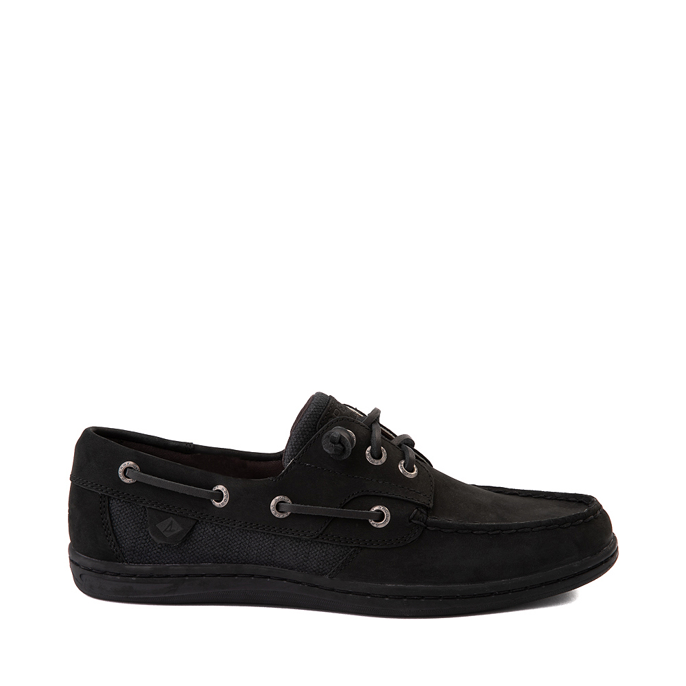 Womens Sperry Top-Sider Songfish Boat Shoe - Black