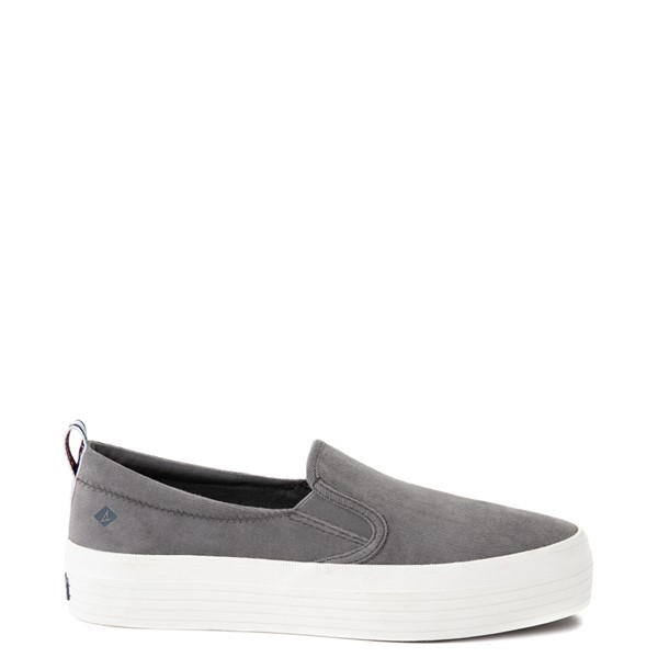 Womens Sperry Top-Sider Crest Platform Slip On Casual Shoe - Gray