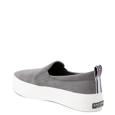 Alternate view of Womens Sperry Top-Sider Crest Platform Slip On Casual Shoe - Gray