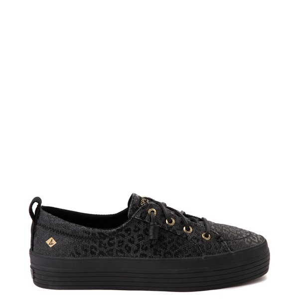 Main view of Womens Sperry Top-Sider Crest Vibe Platform Casual Shoe - Black Leopard
