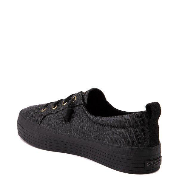alternate view Womens Sperry Top-Sider Crest Vibe Platform Casual Shoe - Black LeopardALT1