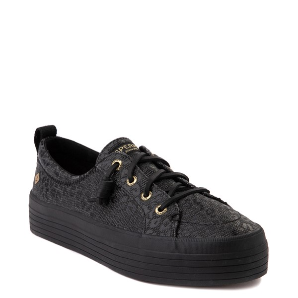 alternate view Womens Sperry Top-Sider Crest Vibe Platform Casual Shoe - Black LeopardALT5