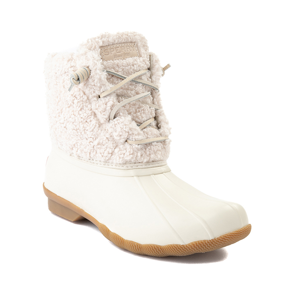 alternate view Womens Sperry Top-Sider Saltwater Sherpa Boot - IvoryALT5