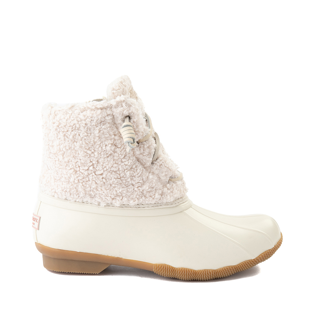 Womens Sperry Top-Sider Saltwater Sherpa Boot - Ivory