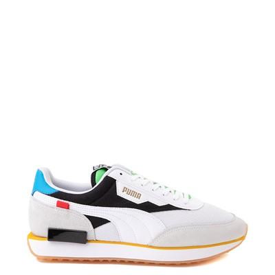 Main view of Mens Puma Future Rider Unity Athletic Shoe - White / Multicolor