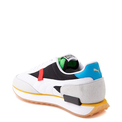 Alternate view of Mens Puma Future Rider Unity Athletic Shoe - White / Multicolor