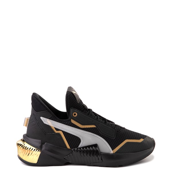 Womens Puma Provoke XT Athletic Shoe - Black / Gray / Gold