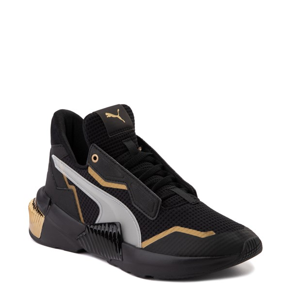 alternate view Womens Puma Provoke XT Athletic Shoe - Black / Gray / GoldALT5