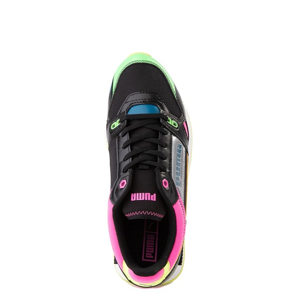 alternate view Womens Puma Mile Rider Sunny Getaway Athletic Shoe - Black / Neon MulticolorALT4B