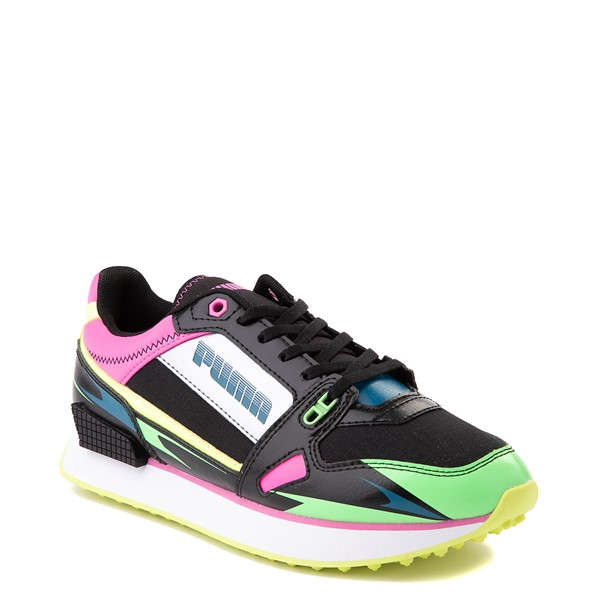 alternate view Womens Puma Mile Rider Sunny Getaway Athletic Shoe - Black / Neon MulticolorALT5