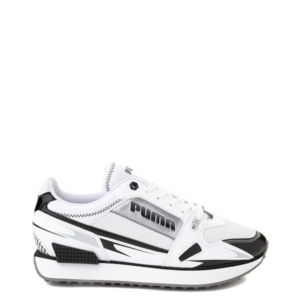 Womens Puma Mile Rider Sunny Getaway Athletic Shoe - White / Black / Silver
