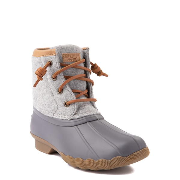 alternate view Sperry Top-Sider Saltwater Wool Boot - Little Kid / Big Kid - GrayALT5