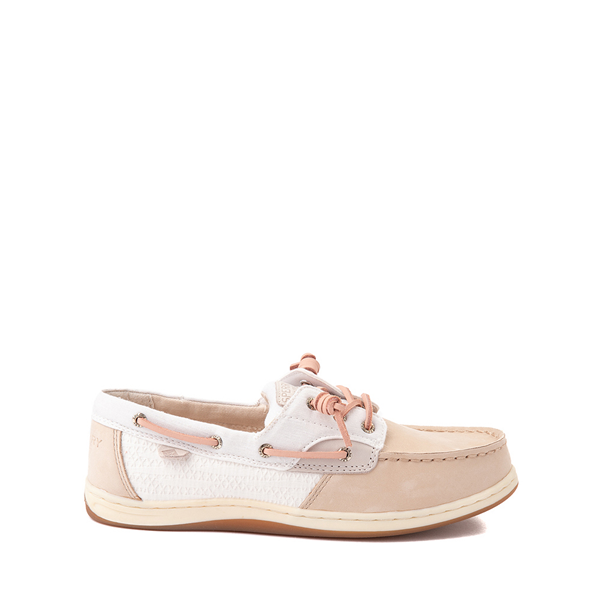 Main view of Sperry Top-Sider Songfish Boat Shoe - Little Kid / Big Kid - Champagne / White / Rose