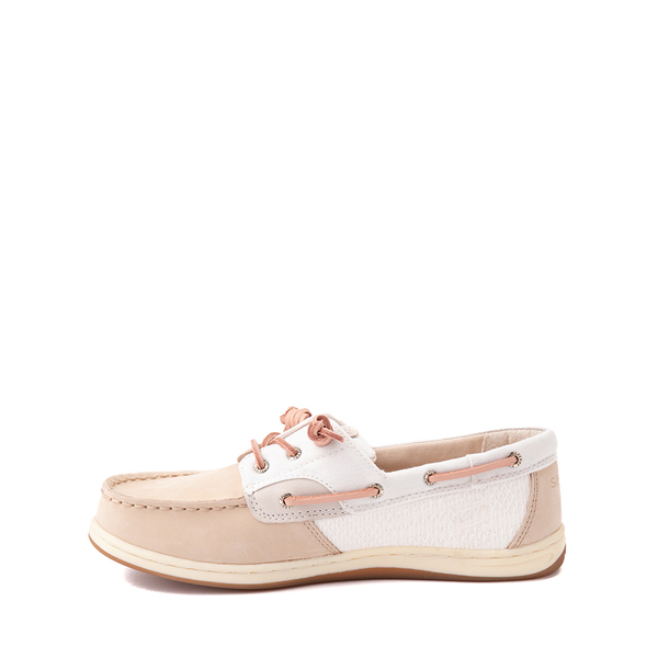 alternate view Sperry Top-Sider Songfish Boat Shoe - Little Kid / Big Kid - Champagne / White / RoseALT1