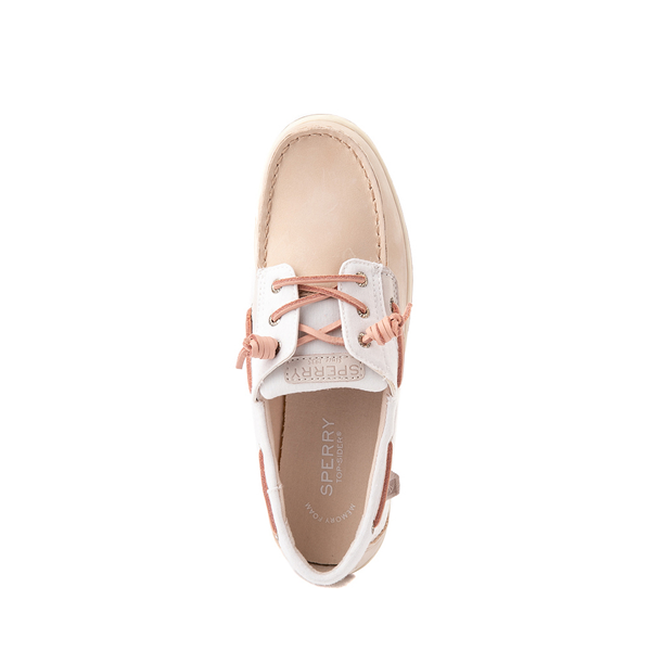 alternate view Sperry Top-Sider Songfish Boat Shoe - Little Kid / Big Kid - Champagne / White / RoseALT2