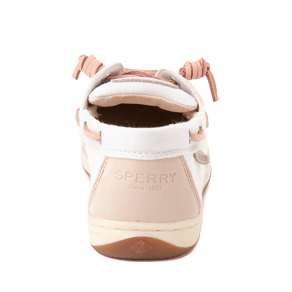 alternate view Sperry Top-Sider Songfish Boat Shoe - Little Kid / Big Kid - Champagne / White / RoseALT4