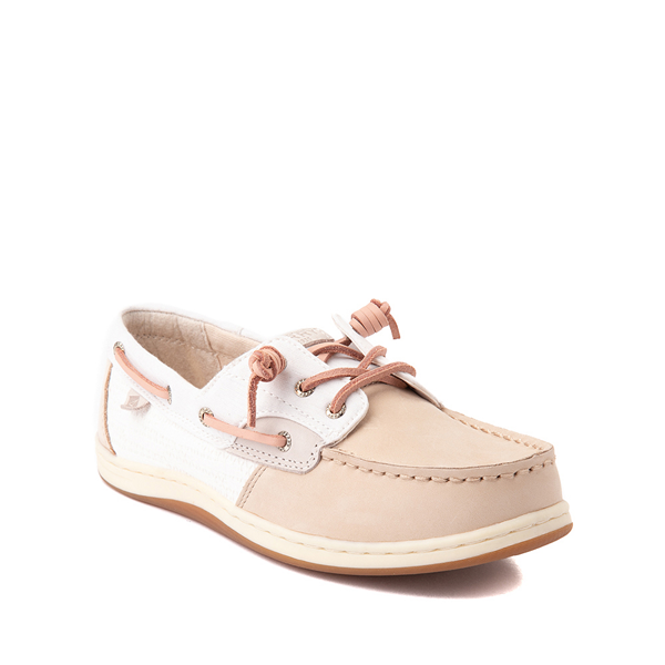 alternate view Sperry Top-Sider Songfish Boat Shoe - Little Kid / Big Kid - Champagne / White / RoseALT5