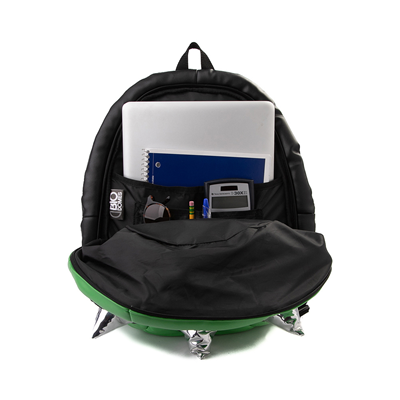 Alternate view of Spike Shell Backpack - Green / Silver