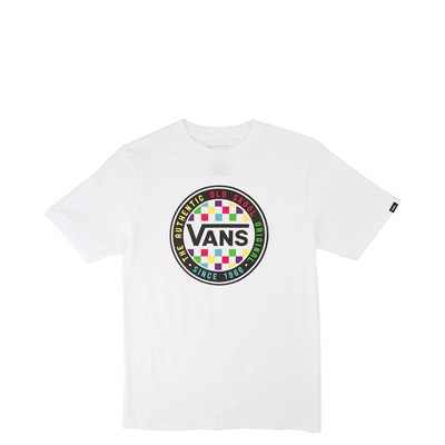 Main view of Vans Neon Circle Tee - Little Kid / Big Kid - White