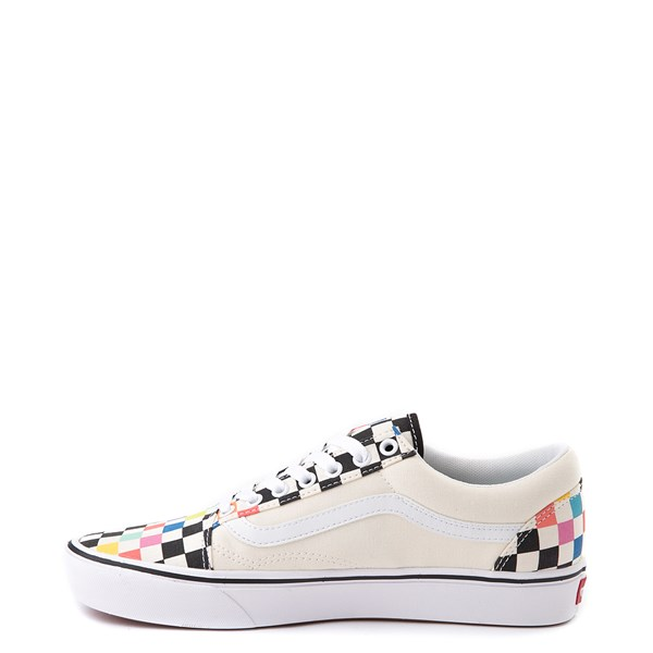 alternate view Vans x MoMA Old Skool ComfyCush® Checkerboard Skate Shoe - White / RainbowALT1
