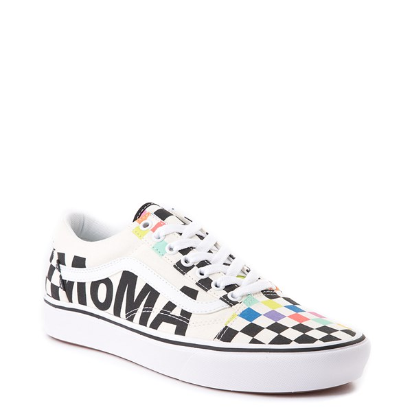 alternate view Vans x MoMA Old Skool ComfyCush® Checkerboard Skate Shoe - White / RainbowALT1B