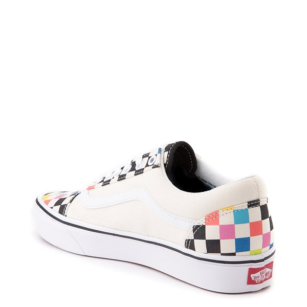 alternate view Vans x MoMA Old Skool ComfyCush® Checkerboard Skate Shoe - White / RainbowALT2