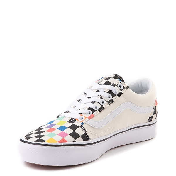 alternate view Vans x MoMA Old Skool ComfyCush® Checkerboard Skate Shoe - White / RainbowALT3